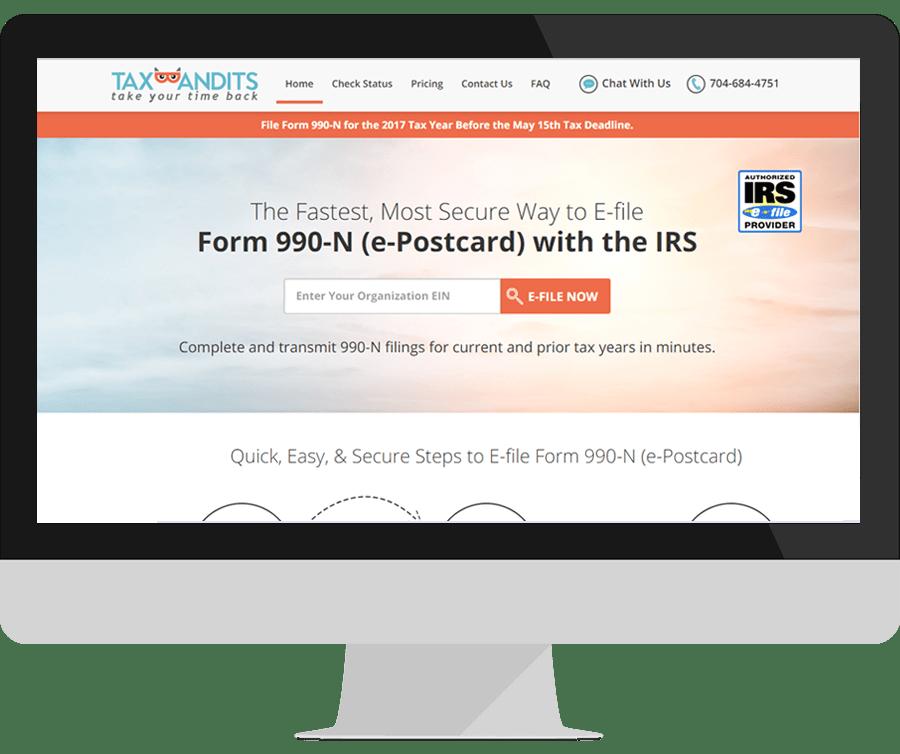 File Form 990-N | e-Postcard Online | IRS 990-N E-filing